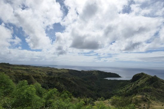 Agat, Ilhas Marianas: Mount Lamlam에서 보이는 바다 풍경