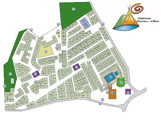 Mapa Platja D Aro.Mapa Picture Of Camping Castell D Aro Castell Platja D