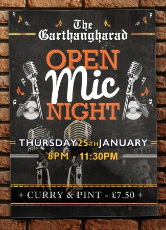 Llwyngwril, UK: Open Mic Night @ The Garthangharad every last Thursday of the month