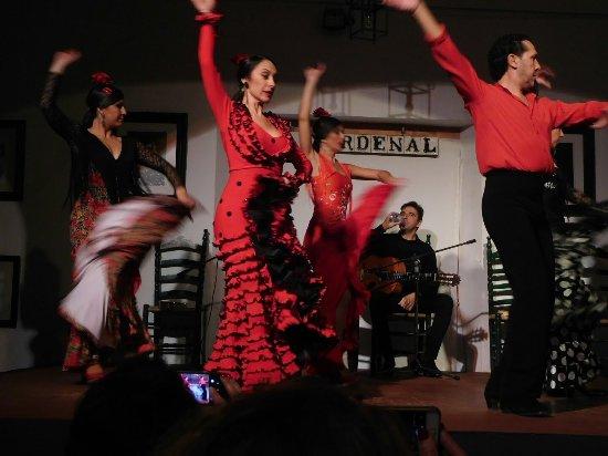 Tablao Flamenco Cardenal: Busy stage, busy dancers