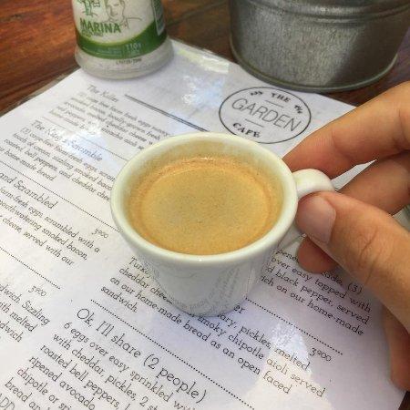 The Garden Cafe: The espresso.