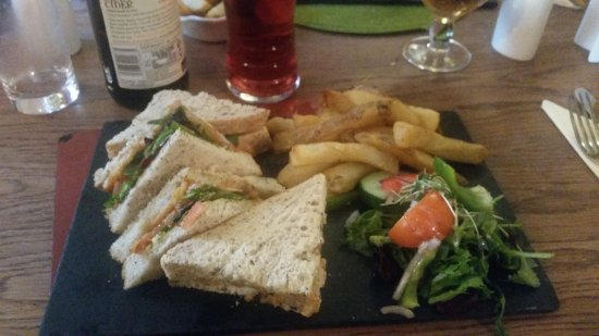 Lorton, UK: Fishfinger sandwiche