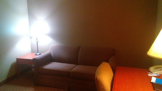 Goshen, NY: Room 302/King Suite living room couch & desk