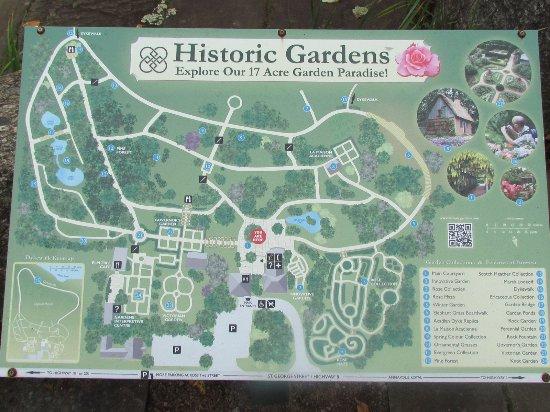 Annapolis Royal Historic Gardens: Plan of the gardens