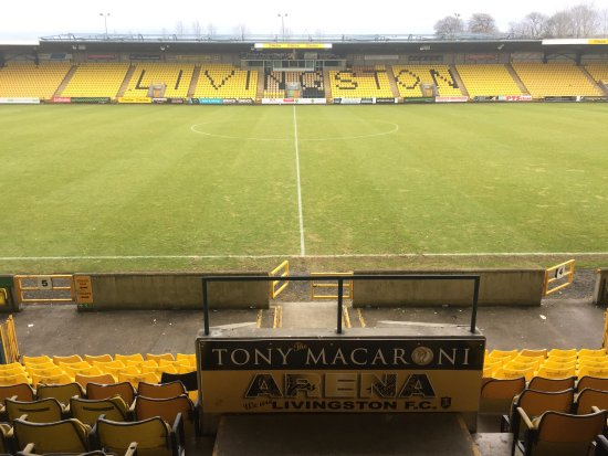Livingston, UK: View of the East Stand