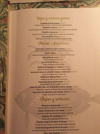 amazonico precio menu