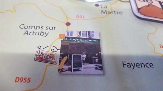 Comps-sur-Artuby, Frankrike: Set de table