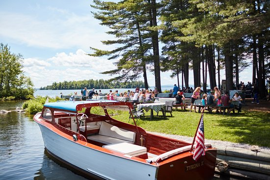 South Casco, ME: Lunch cookout on Sebago Lake