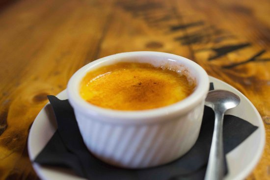 Camano Island, WA: House made creme brulee - Served with that perfect crust on top.