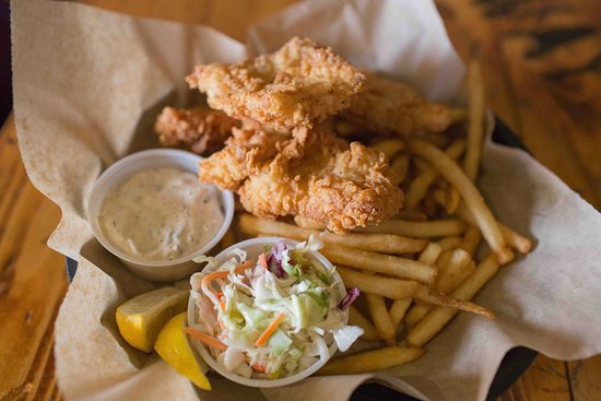 Camano Island, WA: Wild Alaskan Cod FISH & CHIPS - Hand battered and fried to perfection.House made tartar and cole