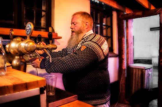 Ranum, Danemark : Vi serverer Søgaards fadøl men ofte serverer vi også vores egen øl..
