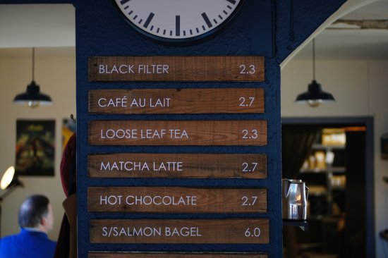 Simple Menu at our Roastery. We focus on the coffee.