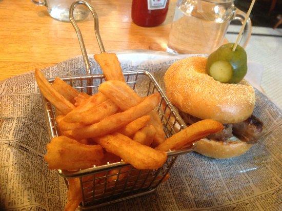 Kohler, WI: Bratwurst with Fries