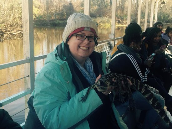 LaPlace, LA: I got to hold a baby alligator named Bruce!