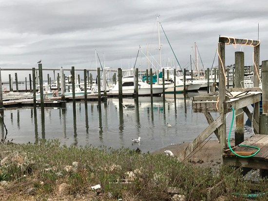 Beaufort, NC: Dock area by shop