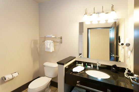 Park Point Marina Inn: Single Queen Bathroom