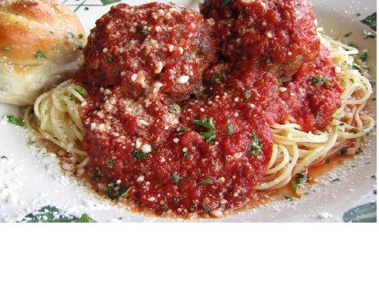 LaBelle, FL: Meatballs and capellini pasta