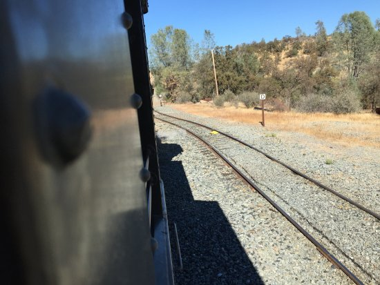 Jamestown, CA: View along tracks heading back to the station