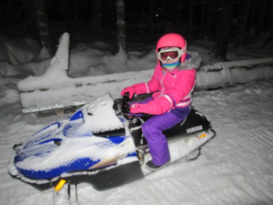 Kids mini snowmobile - Picture of Santa Claus Holiday