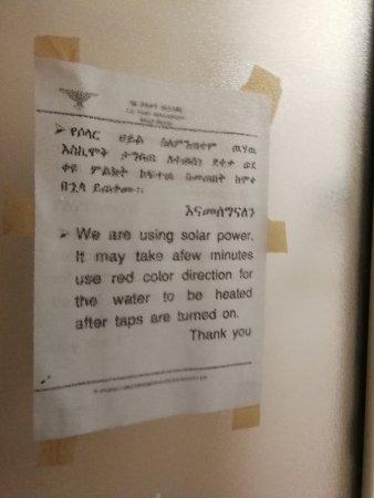 Weldiya, Ethiopia: Malgré les infos, pas d'eau chaude également