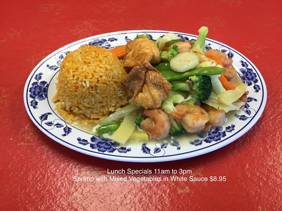 Lunch Specials 11am To 3pm Shrimp With Mixed Vegetables In White
