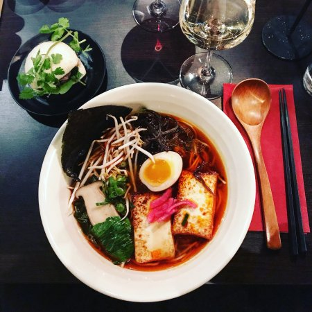 Tokyo vegan ramen with extra chili