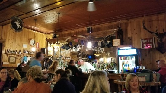 Proud Cut Saloon: Dining romm and bar