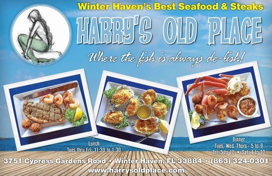 Harry S Old Place Winter Haven Menu Prices Restaurant Reviews Tripadvisor