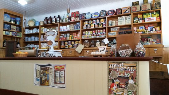 Hervey Bay Historical Village & Museum: Haddows Shop has a selection of items that were on sale last century.
