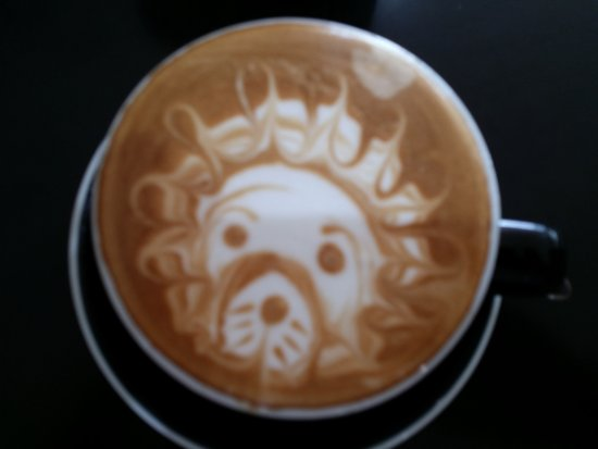 Milford, New Zealand: Artistic coffee