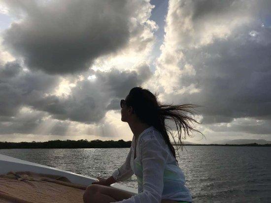 La Ardilena: Disfrutando del recorrido en barco capitaneado por @henriancet