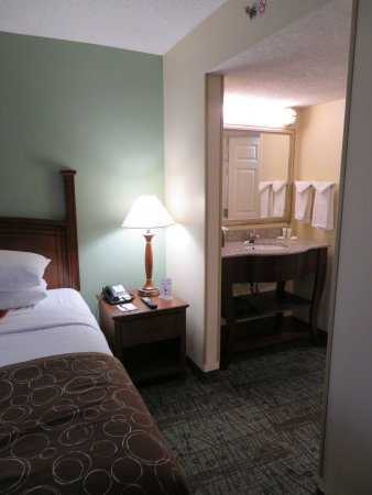 Staybridge Suites Memphis - Poplar Ave East: No door between sleeping area and sink.
