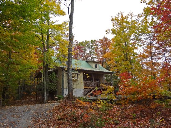 Lake Toxaway, Karolina Północna: Deer Lodge Cabin Fall View