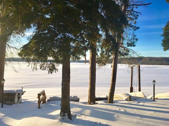 Au Train, ميتشجان: Winter wonderland view 