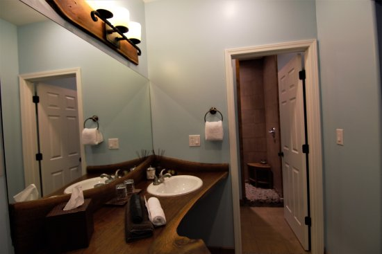 Makanda, IL: Suite 1 - Vanity & Shower area