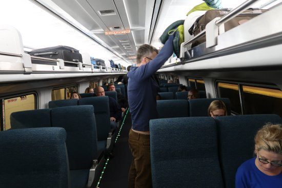 Inside A Coach Of A Northeast Regional Train Of Amtrak - Picture Of Amtrak  Boston