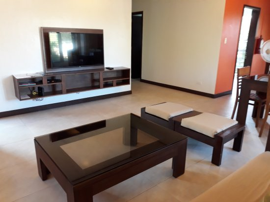 Hassaram Courtyard: View from being seated on the couch (2BR)
