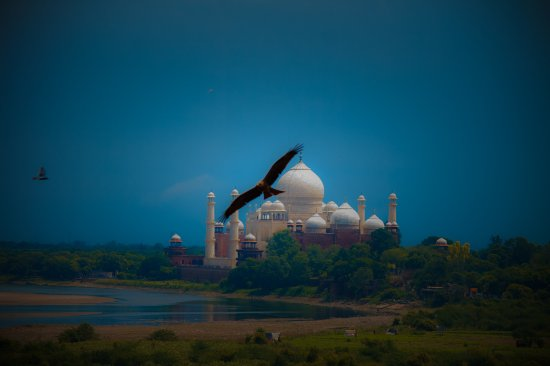 New Delhi, India: Flight is landing on Taj shortly