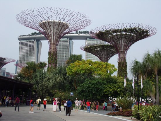 main entrance to gardens by the bay
