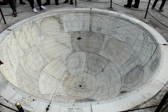 Jantar Mantar - Jaipur: An astronomical instrument used to know the astrological signs of Rajput prince