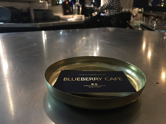 Blueberry Café : carte de visite