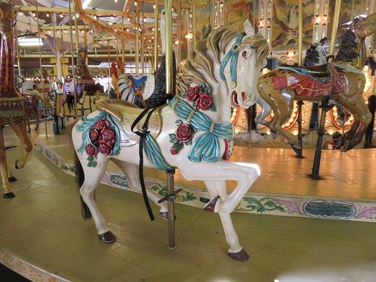 Trimper's Rides and Amusement Park: Beautiful carousel horse