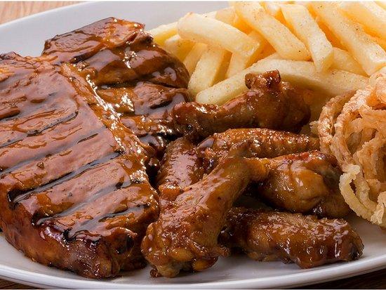 Silver Wings Spur Steak Ranch: T-bone & Wings Combo