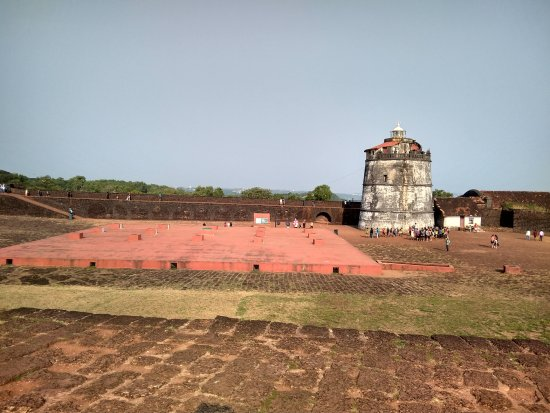 Sinquerim, India: Inside view of the fort