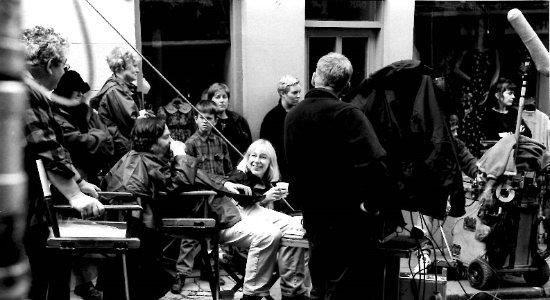 Neil Jordan filming The Butcher boy, on the Diamond, Clones, Co Monaghan