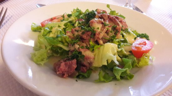 Narcy, France: salade de gesiers
