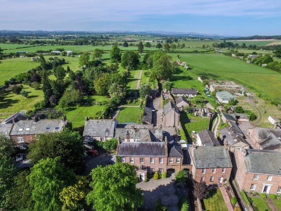 Temple Sowerby, UK: An aerial shot from the front of the hotel