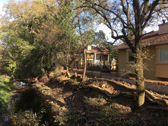 Glen Ellen Inn: View of rooms overlooking creek