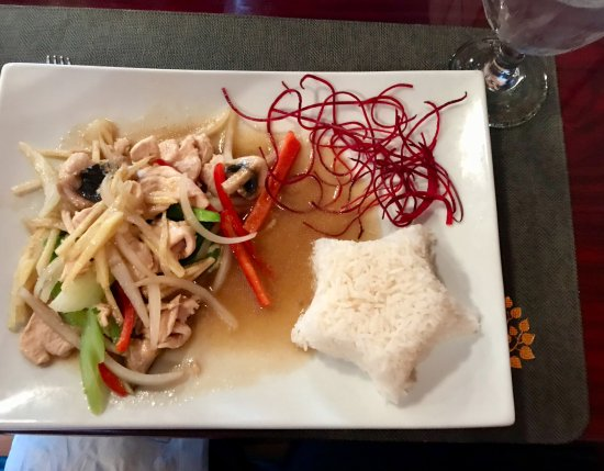 Ginger chicken picture of lanna thai fleming island tripadvisor lanna thai ginger chicken forumfinder Image collections