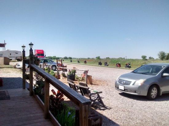 Texola, OK: Route 66 Motorbike Motorcade